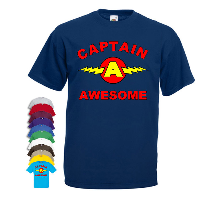 864c0f14 Captain Awesome 'funny' Mens T-shirt - Cheap and Cheerful Clothing