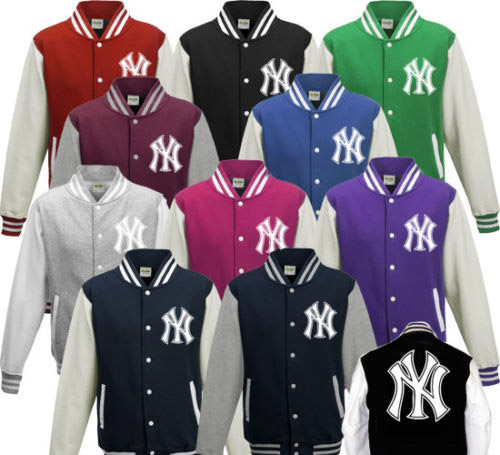 online retailer 5d3bf d97db NY New York Yankees Button Up Varsity Jacket Childrens